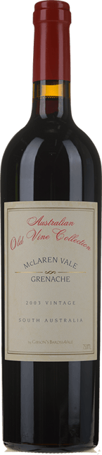 GIBSON Old Vine Collection Grenache, McLaren Vale 2003