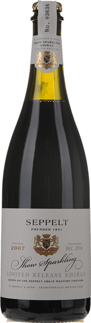 SEPPELT Show Sparkling Limited Release Shiraz, Great Western 2007