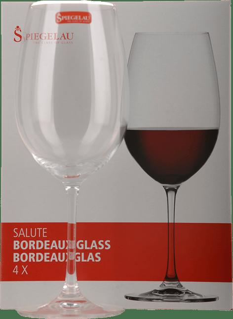 SPIEGELAU GLASSWARE Salute Bordeaux Glass Set of 4 Glasses, Germany NV
