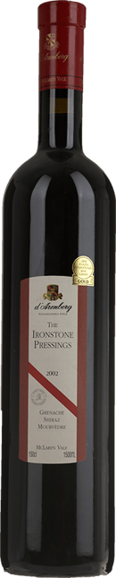 D'ARENBERG WINES The Ironstone Pressings Grenache Shiraz Mourvedre, McLaren Vale 2002