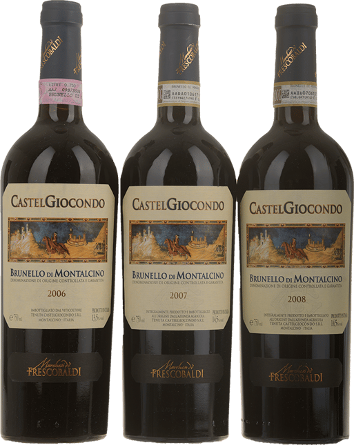 FRESCOBALDI Castel Giocondo 3 Bottle Set, Brunello di Montalcino DOCG MV