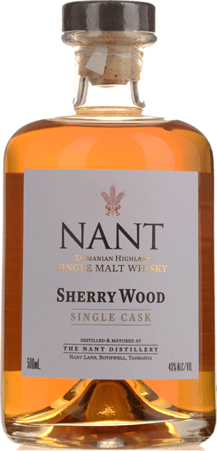 NANT DISTILLING COMPANY Sherry Wood Single Cask 42% ABV, Tasmania NV