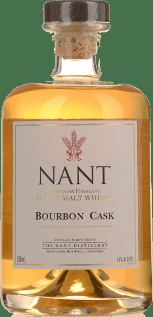 NANT DISTILLING COMPANY Bourbon Cask 43% ABV, Tasmania NV