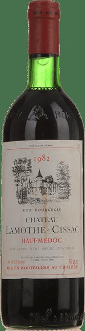 CHATEAU LAMOTHE-CISSAC Grand bourgeois, Haut-Medoc 1982
