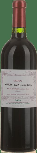 CHATEAU MOULIN SAINT-GEORGES Grand cru, St-Emilion 2004