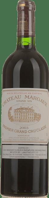 CHATEAU MARGAUX 1er cru classe, Margaux 2003