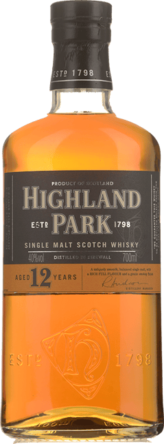 HIGHLAND PARK 12 Year Old Single Malt 40% ABV, Orkney Islands NV