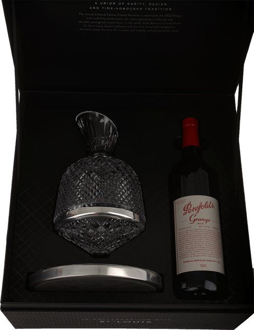PENFOLDS Bin 95 Grange Shiraz & Aevum Saint Louis Decanter Set, South Australia 2012