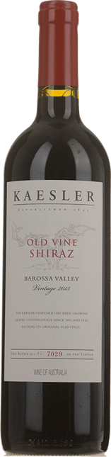 KAESLER WINES Old Vine Shiraz, Barossa Valley 2013