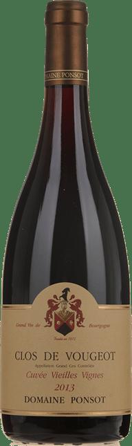 DOMAINE PONSOT Cuvee Vieilles Vignes, Clos de Vougeot 2013