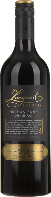LANGMEIL WINERY Orphan Bank Shiraz, Barossa Valley 2014