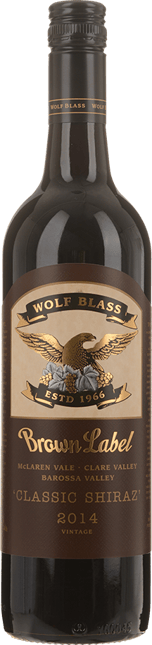 WOLF BLASS WINES Brown Label Shiraz, South Australia 2014