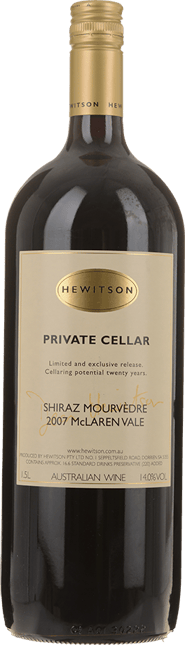HEWITSON Private Cellar Shiraz Mourvedre, McLaren Vale 2007