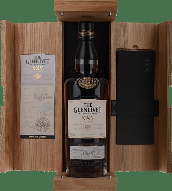 THE GLENLIVET 25 Year Old Single Malt Whisky 43% ABV, The Highlands NV