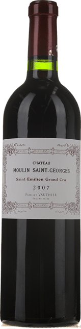 CHATEAU MOULIN SAINT-GEORGES Grand cru, St-Emilion 2007