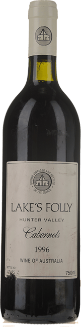 LAKE'S FOLLY Cabernets, Hunter Valley 1996