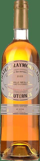 CHATEAU RAYMOND LAFON, Sauternes 2003