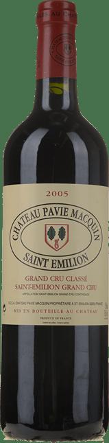 CHATEAU PAVIE-MACQUIN 1er grand cru classe (B), St-Emilion 2005