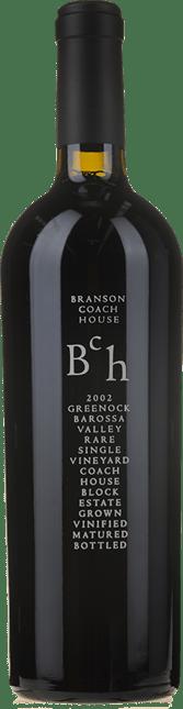 BRANSON COACH HOUSE Rare Greenock (black label) Shiraz, Barossa Valley 2002