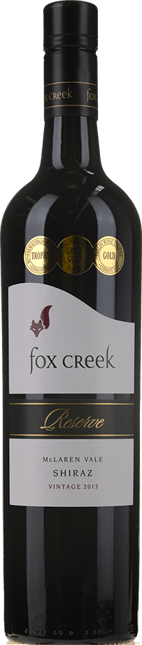 FOX CREEK WINES Reserve Shiraz, McLaren Vale 2013