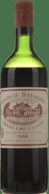 CHATEAU BATAILLEY 5me cru classe, Pauillac 1959
