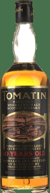 TOMATIN 10 Year Old Single Malt Whisky 40% ABV, The Highlands NV
