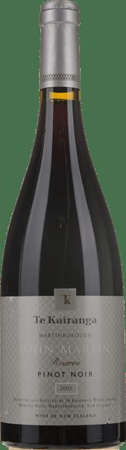 TE KAIRANGA John Martin Reserve Pinot Noir, Martinborough 2005