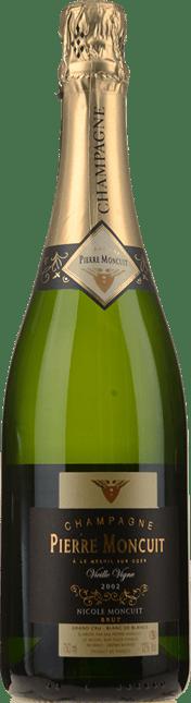PIERRE MONCUIT Cuvee Nicole Moncuit Grand Cru Vieille Vigne Blanc de Blancs Brut, Champagne 2002