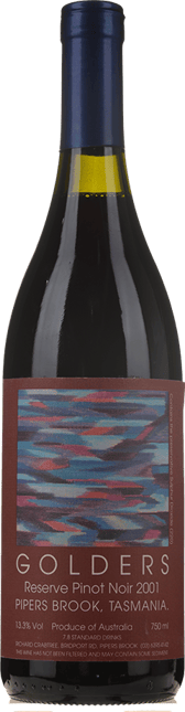 GOLDERS VINEYARD Reserve Pinot Noir, Pipers Brook 2001
