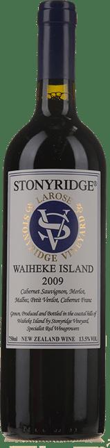 STONYRIDGE VINEYARD Larose Cabernets, Waiheke Island 2009