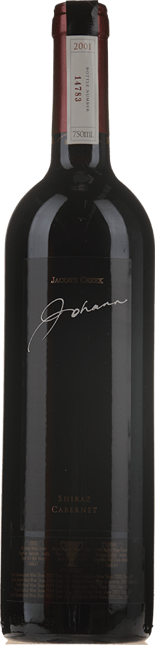 ORLANDO Jacob's Creek Johann Shiraz Cabernet, South Australia 2001