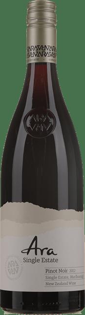 ARA WINES Single Estate Pinot Noir, Marlborough 2012