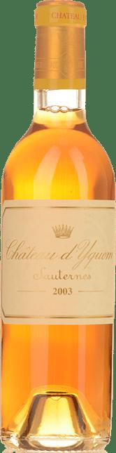 CHATEAU D'YQUEM 1er cru superieur, Sauternes 2003