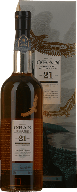 OBAN 21 Year Old Single Malt Scotch Whisky 57.9% ABV, The Highlands NV