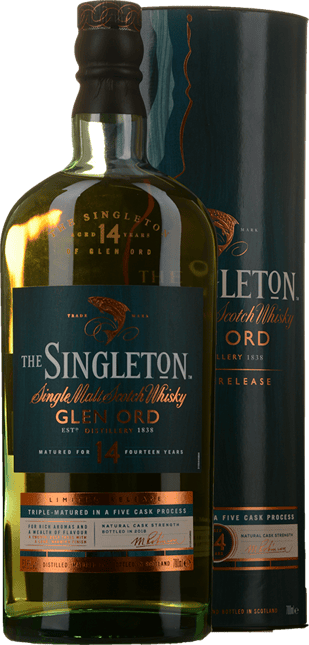 THE SINGLETON Glen Ord 14 Year Old Single Malt Scotch Whisky 57.6% ABV, The Highlands NV