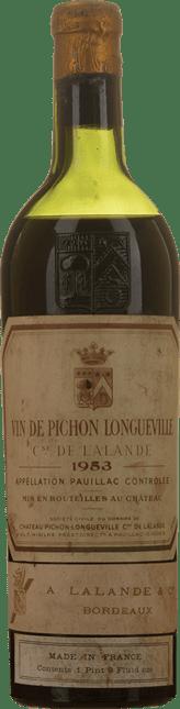 CHATEAU PICHON-LONGUEVILLE LALANDE 2me cru classe, Pauillac 1953
