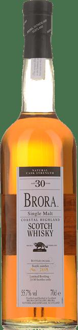 BRORA 30 Year Old Single Malt Scotch Whisky 55.7% ABV, The Highlands NV