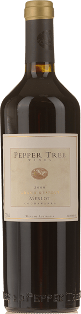 PEPPER TREE WINES Grand Reserve Merlot, Coonawarra 2000