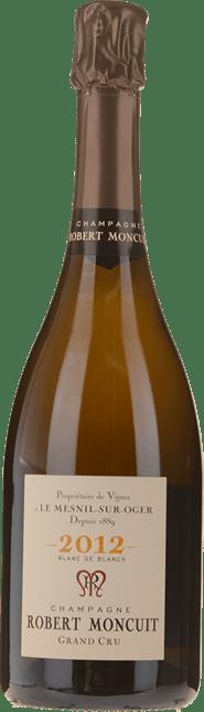 CHAMPAGNE ROBERT MONCUIT, Millesime Grand Cru Blanc de Blancs 2012
