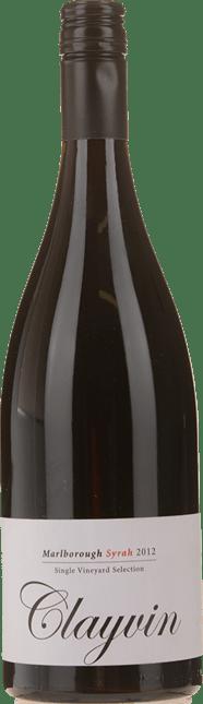 GIESEN ESTATE WINES Single Vineyard Selection Clayvin Syrah, Marlborough 2012