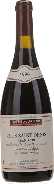 DOMAINE DE CHEZEAUX Cuvee Vieilles Vignes, Clos Saint-Denis 1996