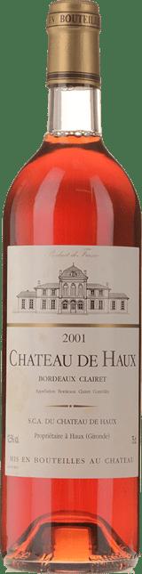 CHATEAU DE HAUX Clairet, Bordeaux 2001