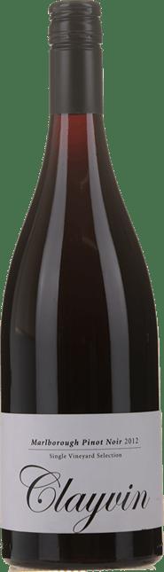 GIESEN ESTATE WINES Single Vineyard Selection Clayvin Pinot Noir, Marlborough 2012
