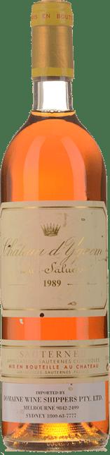 CHATEAU D'YQUEM 1er cru superieur, Sauternes 1989