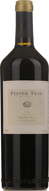 PEPPER TREE WINES Grand Reserve Merlot, Coonawarra 2000