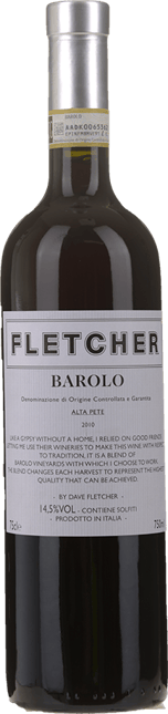 FLETCHER WINES Alta Pete Barolo , Barolo 2010
