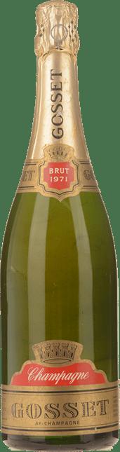 GOSSET Brut, Ay-Champagne 1971