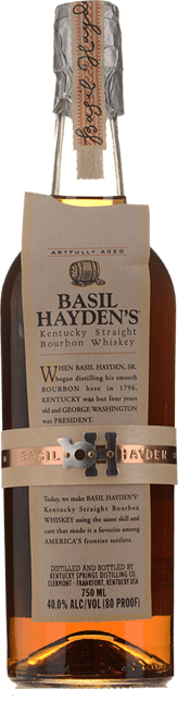 BASIL HAYDEN'S 8 Year Old Kentucky Straight Bourbon 40% ABV NV