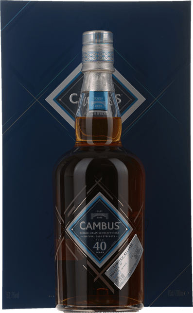 CAMBUS Limited Edition 1975 40 Year Old Scotch Whisky 52.7% ABV, The Lowlands NV