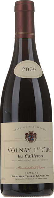 DOMAINE THIERRY GLANTENAY 1er Cru , Volnay-Caillerets 2009